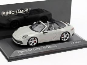 Porsche 911 (992) Carrera 4S Cabriolet year 2019 chalk gray 1:43 Minichamps