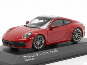 Porsche 911 (992) Carrera 4S year 2019 carmine red 1:43 Minichamps