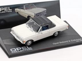 Opel Rekord A Cabriolet Year 1963-1965 white / black 1:43 Ixo Altaya