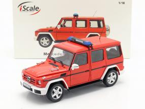 Mercedes-Benz G-Class (W463) 2015 fire Department 1:18 iScale