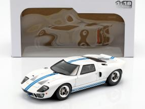 Ford GT40 MK I year 1968 white / blue 1:18 Solido