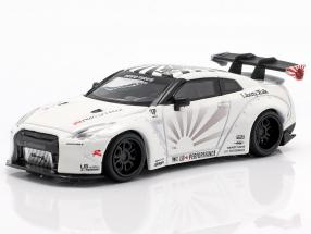 LB Works Nissan GT-R (R35) Type 1 LHD white 1:64 True Scale