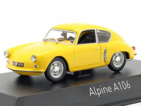 Alpine Renault A106 year 1956 yellow 1:43 Norev