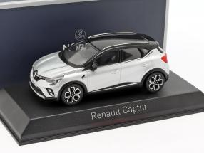 Renault Captur year 2020 silver metallic / black 1:43 Norev
