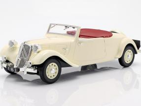 Citroen Traction Avant Cabriolet 11B year 1939 cream white 1:18 Norev