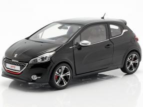Peugeot 208 GTi year 2013 pearl black 1:18 Norev