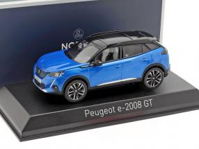 Peugeot e-2008 GT year 2020 blue metallic / black 1:43 Norev