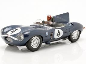 Set: Jaguar D-Type #4 Winner 24h LeMans 1956 with driver figure 1:18 CMR