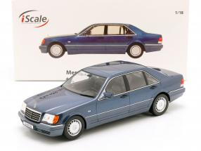 Mercedes-Benz S500 (W140) year 1994-98 azurit blue / Gray 1:18 iScale
