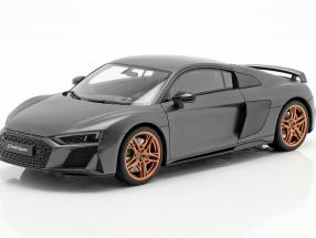 Audi R8 V10 Decennium Construction year 2018 Gray metallic  GT-Spirit