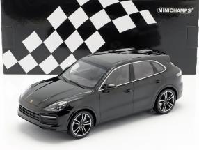 Porsche Cayenne Turbo S year 2017 black 1:18 Minichamps