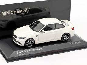 BMW M2 Competition year 2019 alpine white 1:43 Minichamps