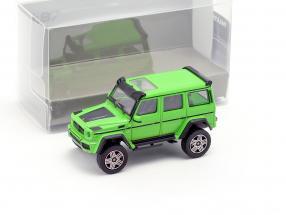 Brabus 4x4² based on Mercedes-Benz G500 4x4² year 2016 green 1:87 Minichamps