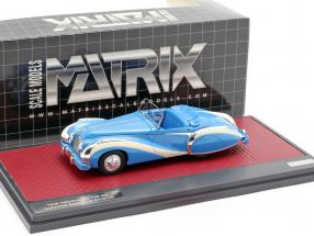 Talbot-Lago T26 GS Cabriolet Saoutchik open Top 1948 blue 1:43 Matrix