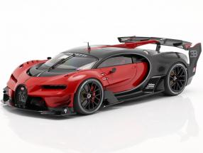 Bugatti vision GT year 2015 italian red / carbon black 1:18 AUTOart