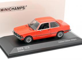 BMW 323i (E21) year 1975 henna red 1:43 Minichamps