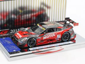 Nissan GT-R #1 champion Super GT500 Series 2015 Matsuda, Quintarelli 1:43 Ebbro