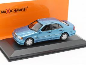 Mercedes-Benz C-Class (W202) year 1997 blue metallic 1:43 Minichamps