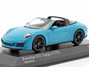 Porsche 911 (991 II) Targa 4 GTS year 2016 miami blue 1:43 Minichamps