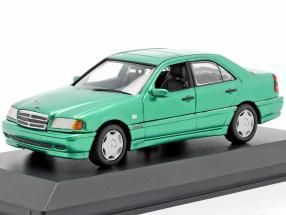 Mercedes-Benz C-Class (W202) year 1997 green metallic 1:43 Minichamps