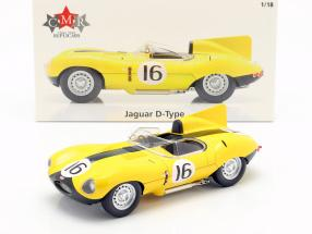Jaguar D-Type #16 4th 24h LeMans 1957 Frere, Rousselle 1:18 CMR