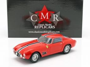 Ferrari 250 GT LWB year 1957 red with blue-white stripe 1:18 CMR