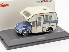 Volkswagen VW Beetle Motorhome blue metallic / white 1:43 Schuco