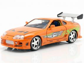Brian's Toyota Supra from the Movie Fast and Furious 7 2015 orange 1:24 Jada Toys