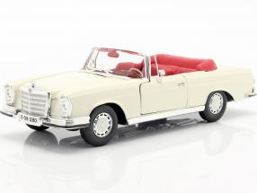 Mercedes-Benz 280 SE Year 1967 cream white 1:18 Maisto
