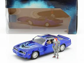 Henry Bower's Pontiac Firebird Movie It (2017) with figure Pennywise 1:24 Jada Toys