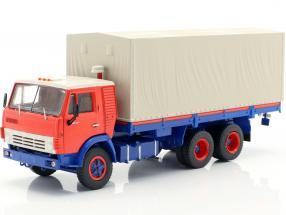 Kamaz 5320 Truck with trailer GBK 8350 blue / orange 1:43 Premium ClassiXXs