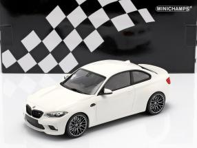 BMW M2 Competition year 2019 white 1:18 Minichamps
