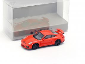 Porsche 911 GT3 year 2017 orange 1:87 Minichamps