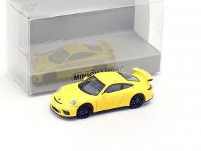 Porsche 911 GT3 year 2017 yellow 1:87 Minichamps
