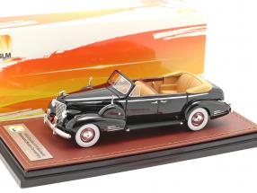 Cadillac V16 Series 90 Fleetwood Sedan Open Top year 1938 black 1:43 GLM
