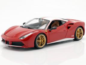 Ferrari 488 GTB The Lauda 70th Anniversary Collection red / white 1:18 Bburago