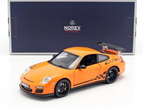 Porsche 911 (997 II) GT3 RS year 2010 orange 1:18 Norev