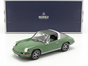 Porsche 911 S Targa year 1973 green 1:18 Norev