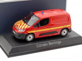 Citroen Berlingo van fire Department year 2018 red / yellow 1:43 Norev