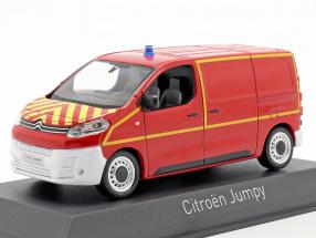 Citroen Jumpy van fire Department year 2016 red / yellow 1:43 Norev