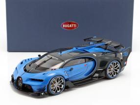 Bugatti Vision GT year 2015 Bugatti racing blue / carbon blue 1:18 AUTOart