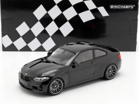BMW M2 Competition year 2019 black metallic 1:18 Minichamps