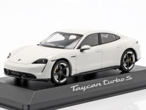 Porsche Taycan Turbo S year 2019 carrara white 1:43 Minichamps