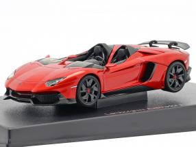 Lamborghini Aventador J Roadster year 2012 red / black 1:43 AUTOart