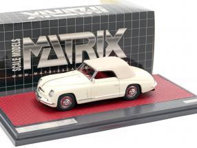 Alfa Romeo 6C 2500 Ghia Convertible Closed Top 1947 cream White 1:43 Matrix