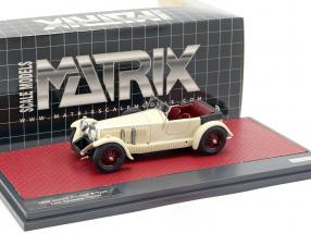 Invicta 4.5-litre S-Type Low Chassis Tourer Open Top 1930 cream White 1:43 Matrix