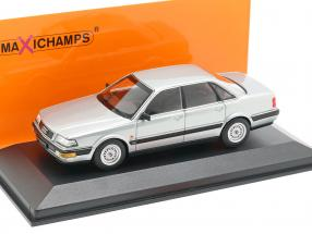 Audi V8 (4C) year 1988 silver metallic 1:43 Minichamps