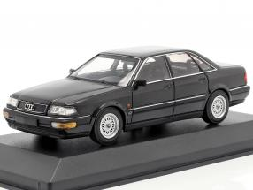 Audi V8 (4C) year 1988 black metallic 1:43 Minichamps