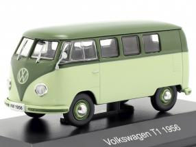 Volkswagen VW Bulli T1 year 1956 light green / green 1:43 Altaya
