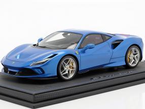 Ferrari F8 Tribute Genevan motor show 2019 corsa blue metallic 1:18 BBR